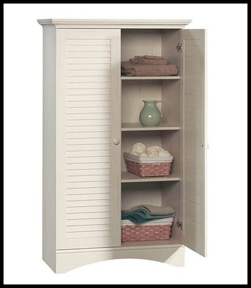 antique-white-linen-cabinet