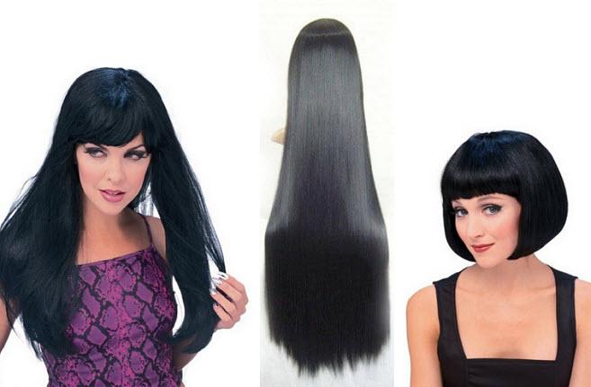 black-costume-wig