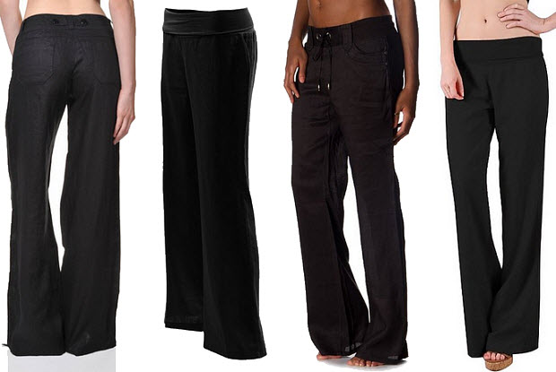 black-linen-pants-for-women