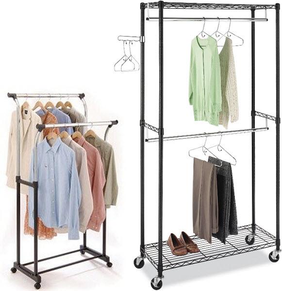 double-garment-rack