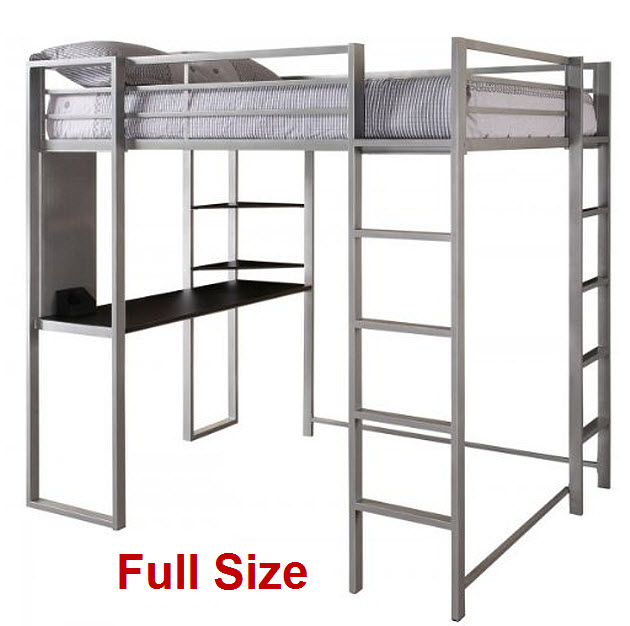 Full-loft-bed-with-desk-and-ladder