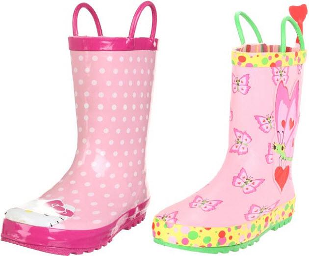 girls-pink-rain-boots