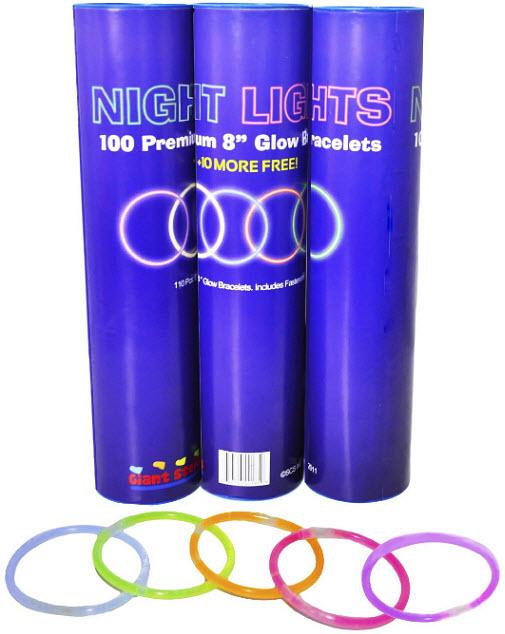 Glow-stick-bracelets