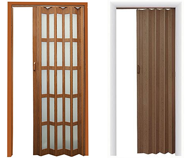 Interior folding accordion doors