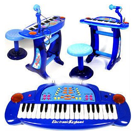 kids-keyboard-with-microphone-and-stool