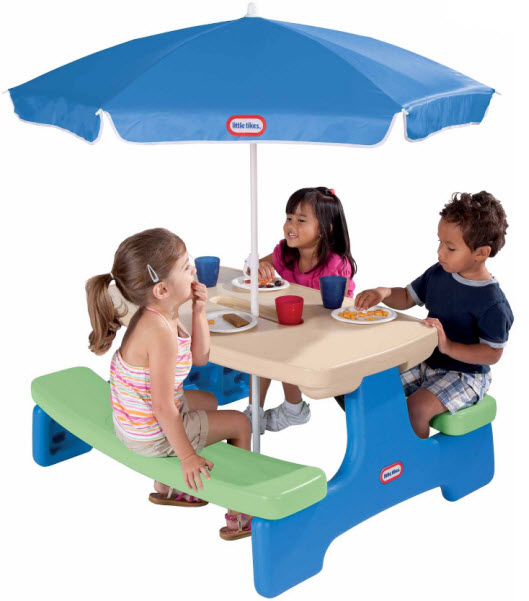 Kids plastic picnic table thatsthestuff kids plastic picnic table 2 watchthetrailerfo