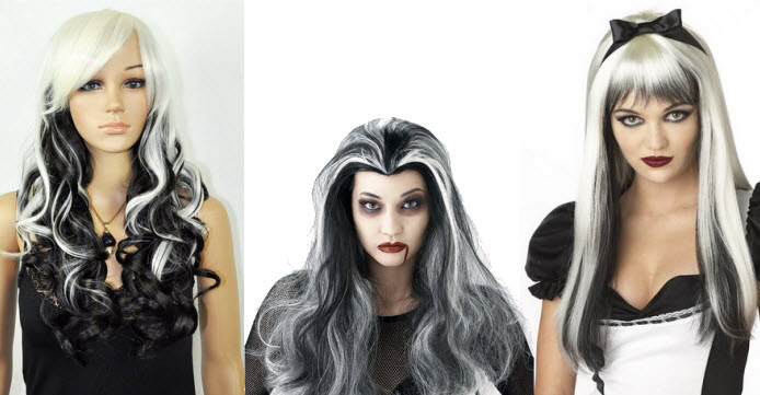 long-black-and-white-wig