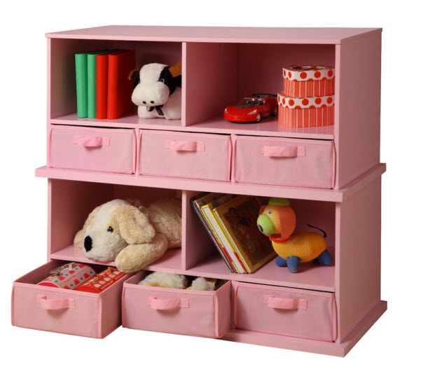 pink-bookcase-for-kids-room