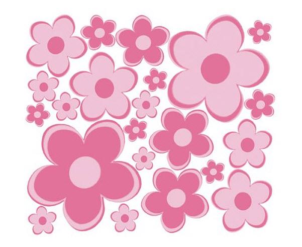 pink-flower-decals
