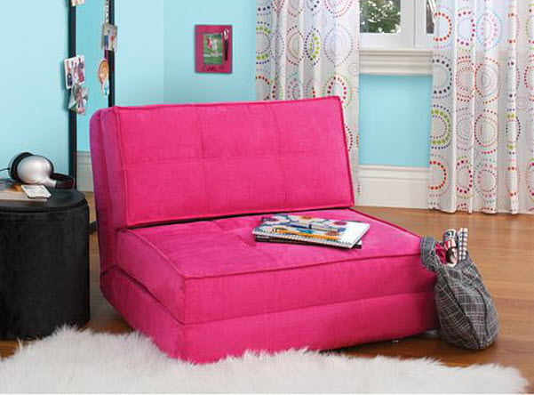 pink-foam-chair-bed