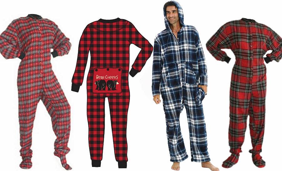 plaid-adult-onesie-union-suit-one-piece-pajamas-long-johns