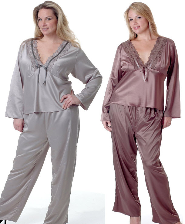 plus-size-satin-pajamas