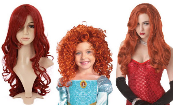red-costume-wig