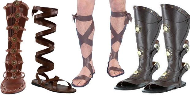 roman-gladiator-costume-sandals-for-men