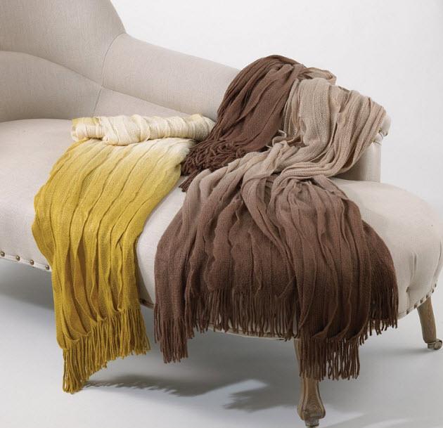 Ruffled-blanket
