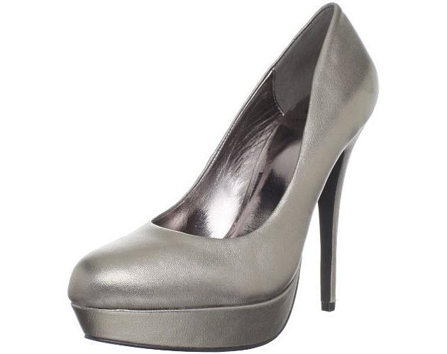 Silver-platform-high-heel-shoes