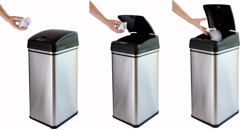 Touchless-garbage-cans