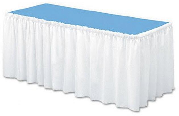 White-table-skirt