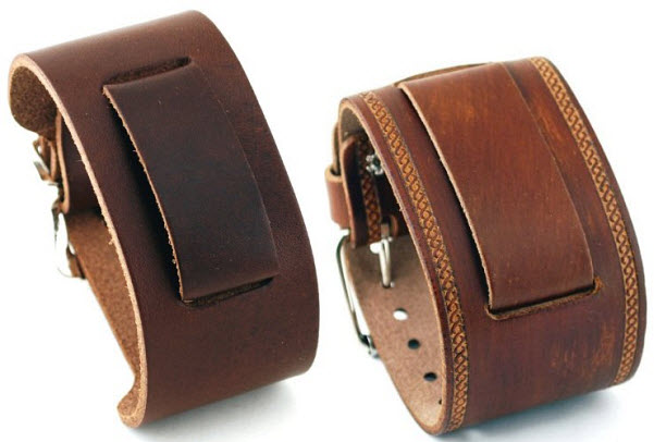wide-leather-watch-band