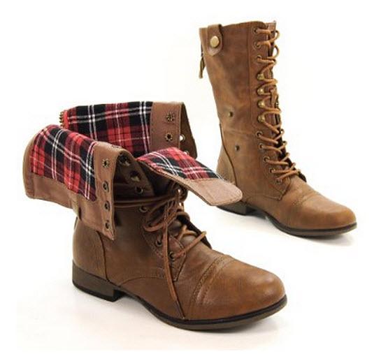 womens-tan-combat-boots