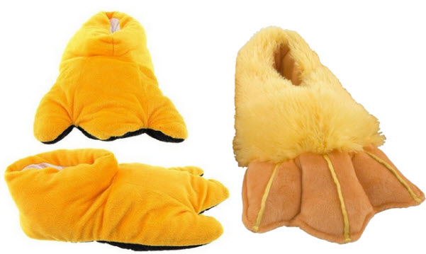 yellow-duck-feet-slippers