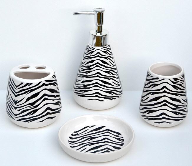 Zebra-print-bathroom-accessory-set