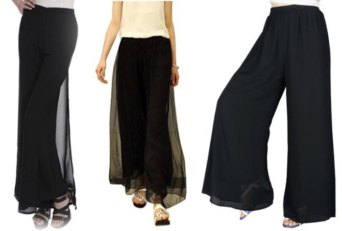 black-chiffon-palazzo-pants