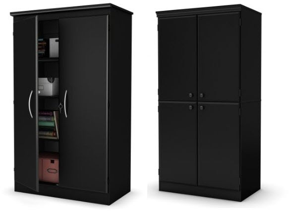 black-storage-cabinets-with-doors