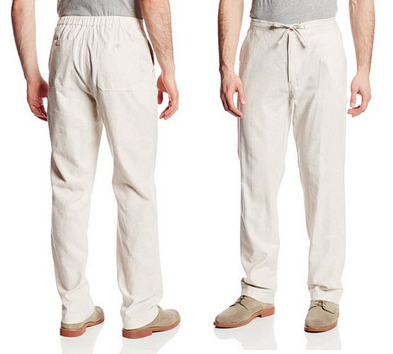 mens-white-linen-drawstring-pants