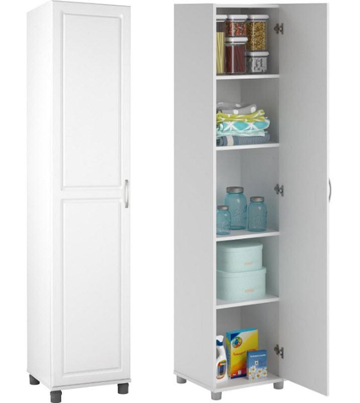 narrow-white-cabinet