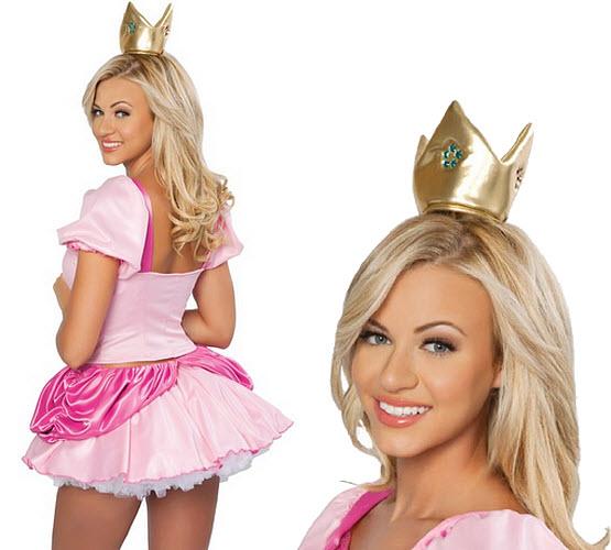 Sexy Princess Peach Halloween Costume Thatsthestuff Net