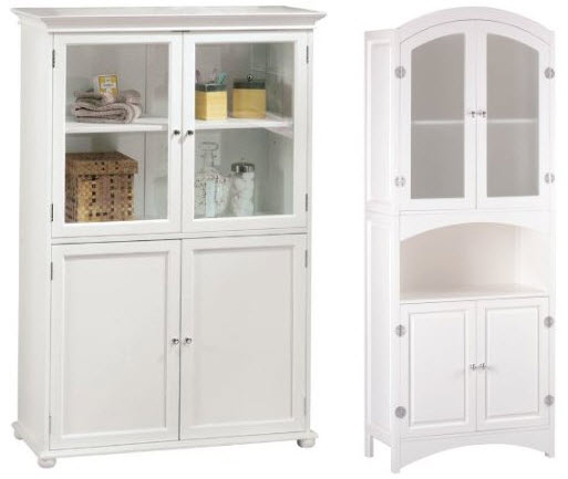 white-bathroom-linen-cabinet