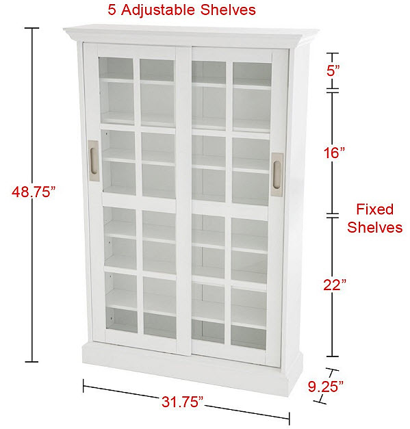 white-dvd-storage-cabinets